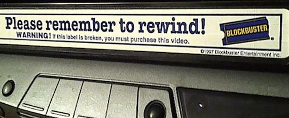 vhs rental label