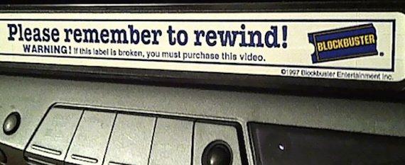 vhs rental label