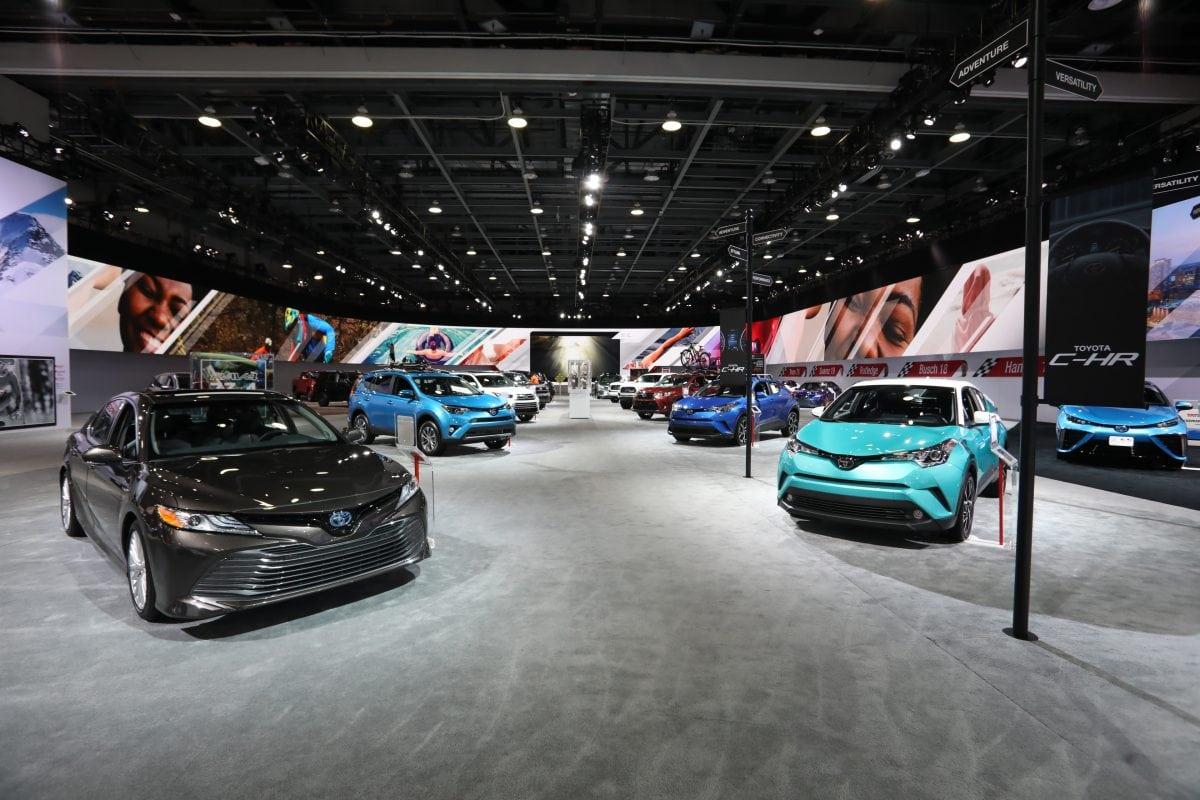 Toyota display in Detroit