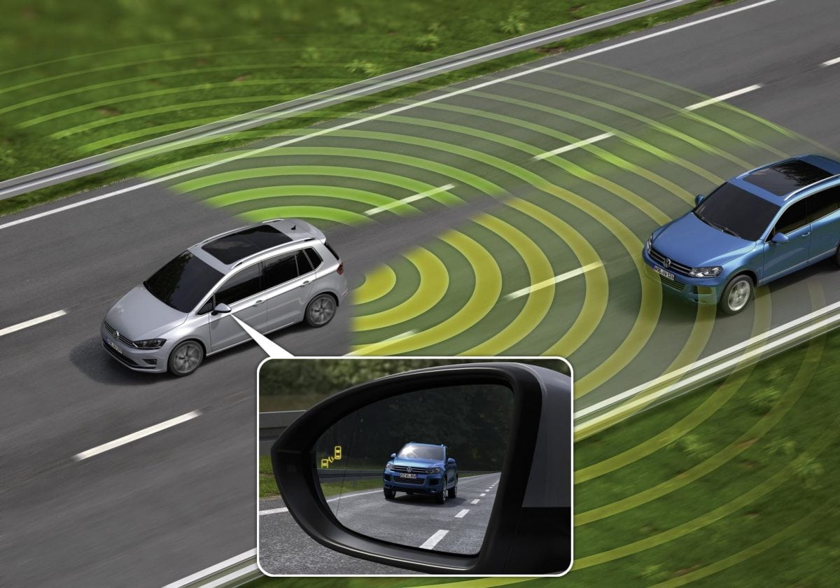 safety systems VW blind spot monitor
