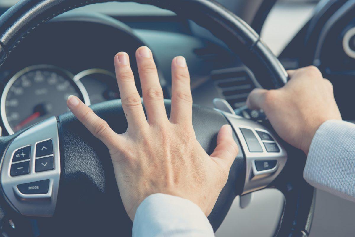 Road rage driver honking