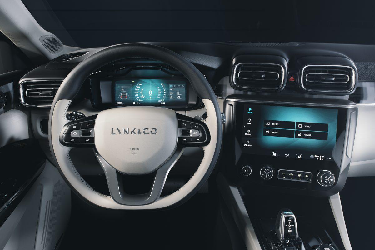 Lynk & Co 02 crossover interior