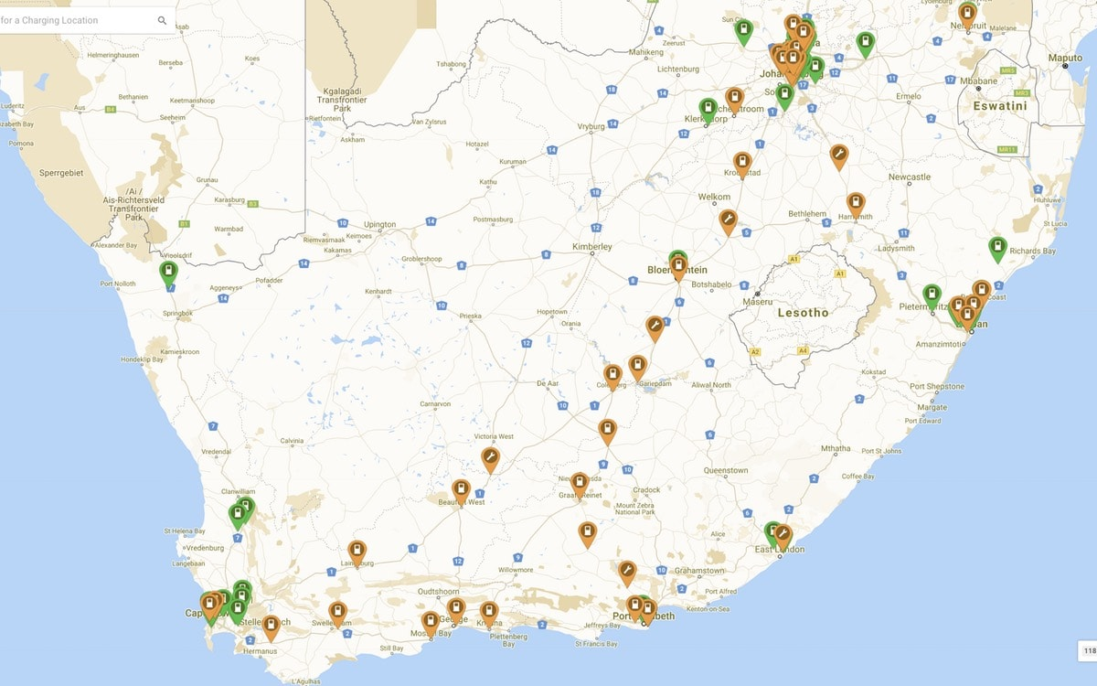 SA Electric Car Charging Infrastructure